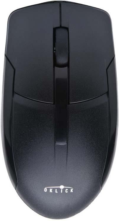 Мышь проводная Oklick, 305М, черный