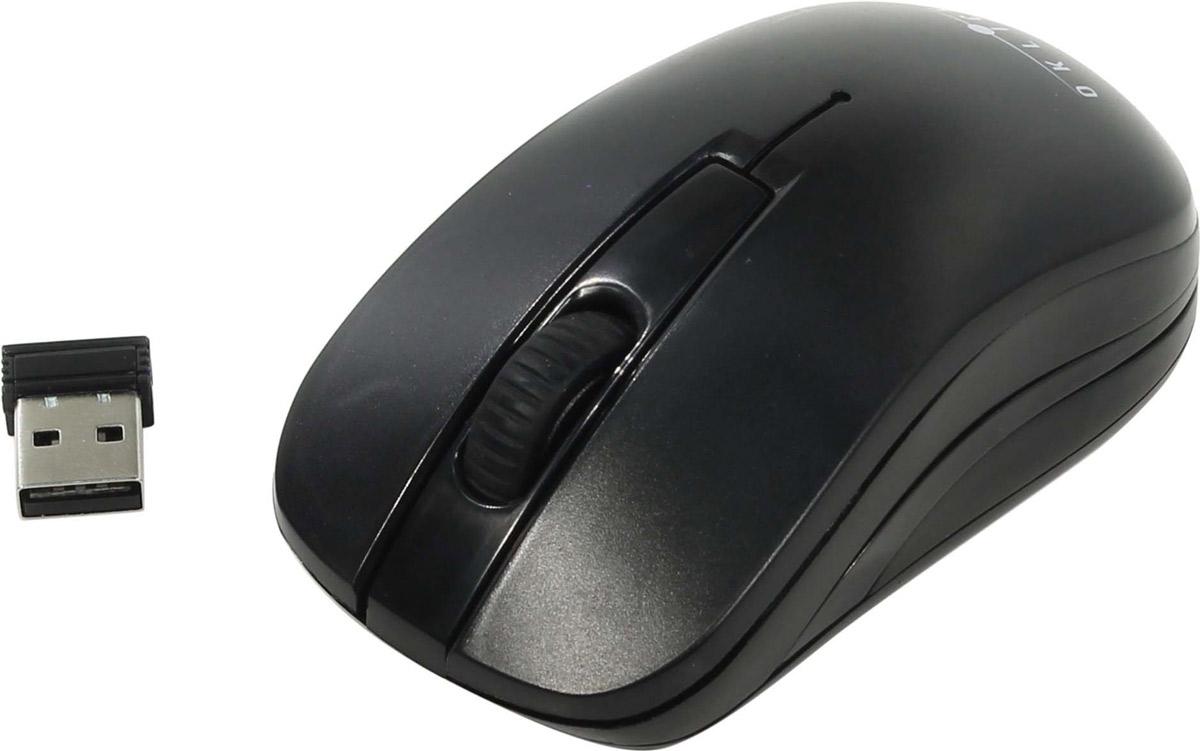 Мышь беспроводная Oklick, 445MW, черный