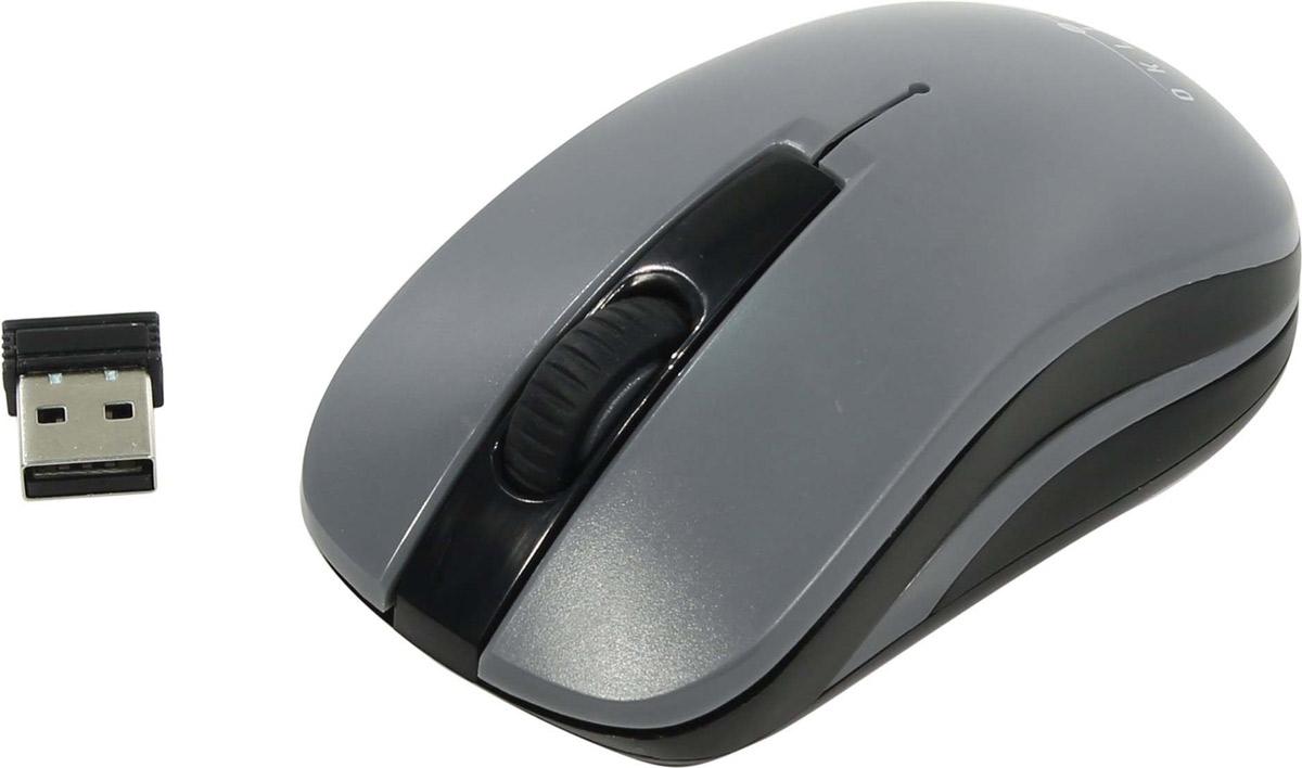лучшая цена Мышь беспроводная Oklick, 445MW, черный, серый