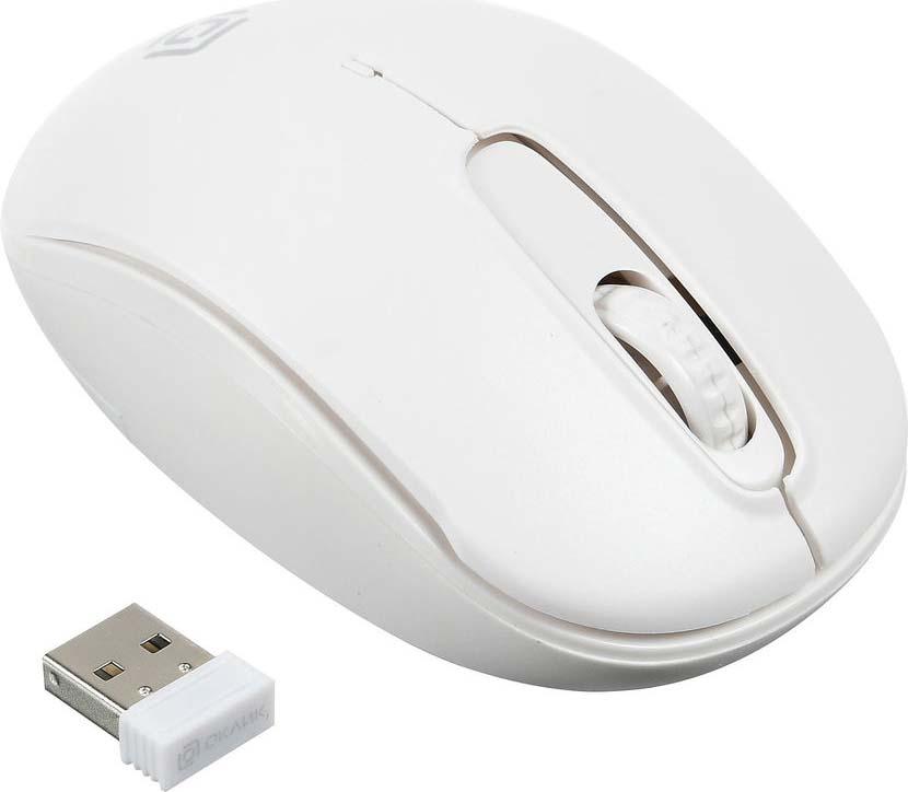 Мышь беспроводная Oklick, 505MW, белый