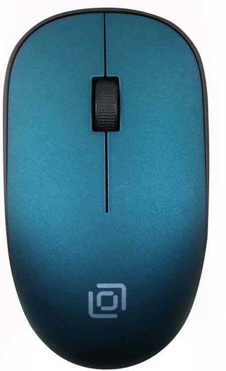 Мышь беспроводная Oklick, 515MW, черный, темно-зеленый цена в Москве и Питере