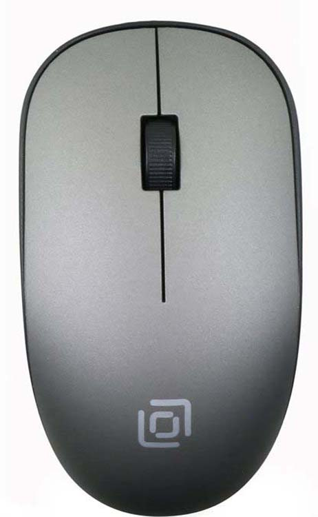 лучшая цена Мышь беспроводная Oklick, 515MW, черный, серый