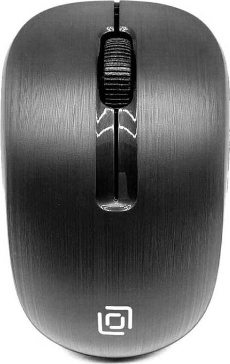 Мышь беспроводная Oklick, 525MW, черный набор клавиатура мышь oklick 210m клав черный мышь черный usb беспроводная