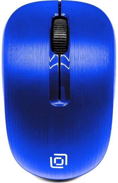 Мышь беспроводная Oklick, 525MW, синий