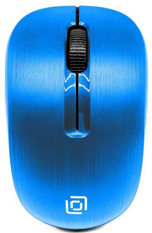 Мышь беспроводная Oklick, 525MW, голубой