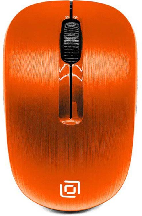 Мышь беспроводная Oklick, 525MW, оранжевый