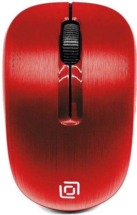 Мышь беспроводная Oklick, 525MW, красный