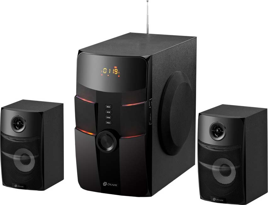 Компьютерная акустическая система Oklick OK-440, черный oklick ok 128 black акустическая система