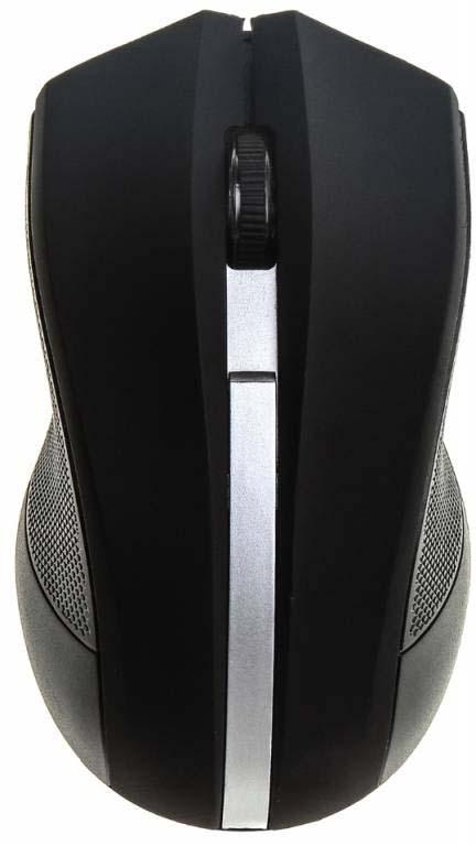 Мышь Oklick 615MW, черный, серебристый