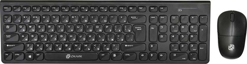 лучшая цена Комплект мышь + клавиатура Oklick 220M, черный