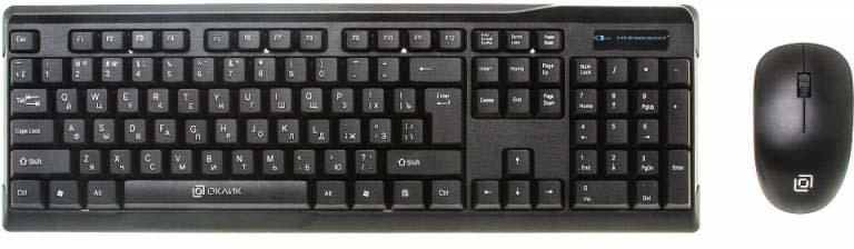 лучшая цена Комплект мышь + клавиатура Oklick 230M, черный