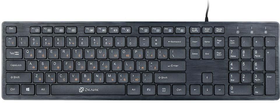 все цены на Клавиатура Oklick 520M2U, черный онлайн