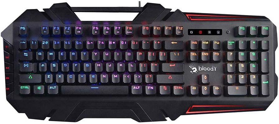 Игровая клавиатура A4Tech Bloody B880R, черный игровая клавиатура smartbuy sbk 201gu k black игровая