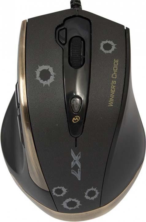 лучшая цена Игровая мышь A4Tech V-Track F3, черный, медь