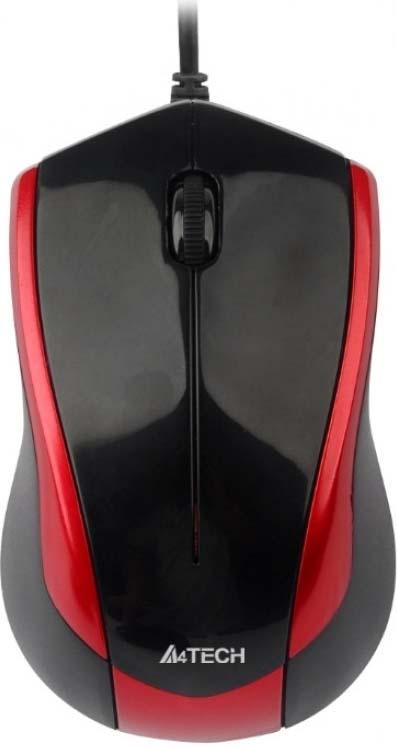 Мышь A4Tech V-Track Padless N-400-2, черный все цены