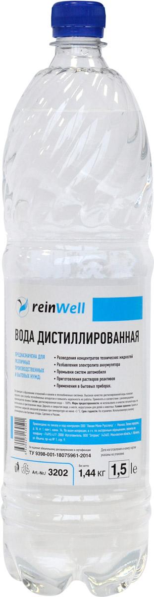 Вода дистиллированная ReinWell RW-02, 1,5 л