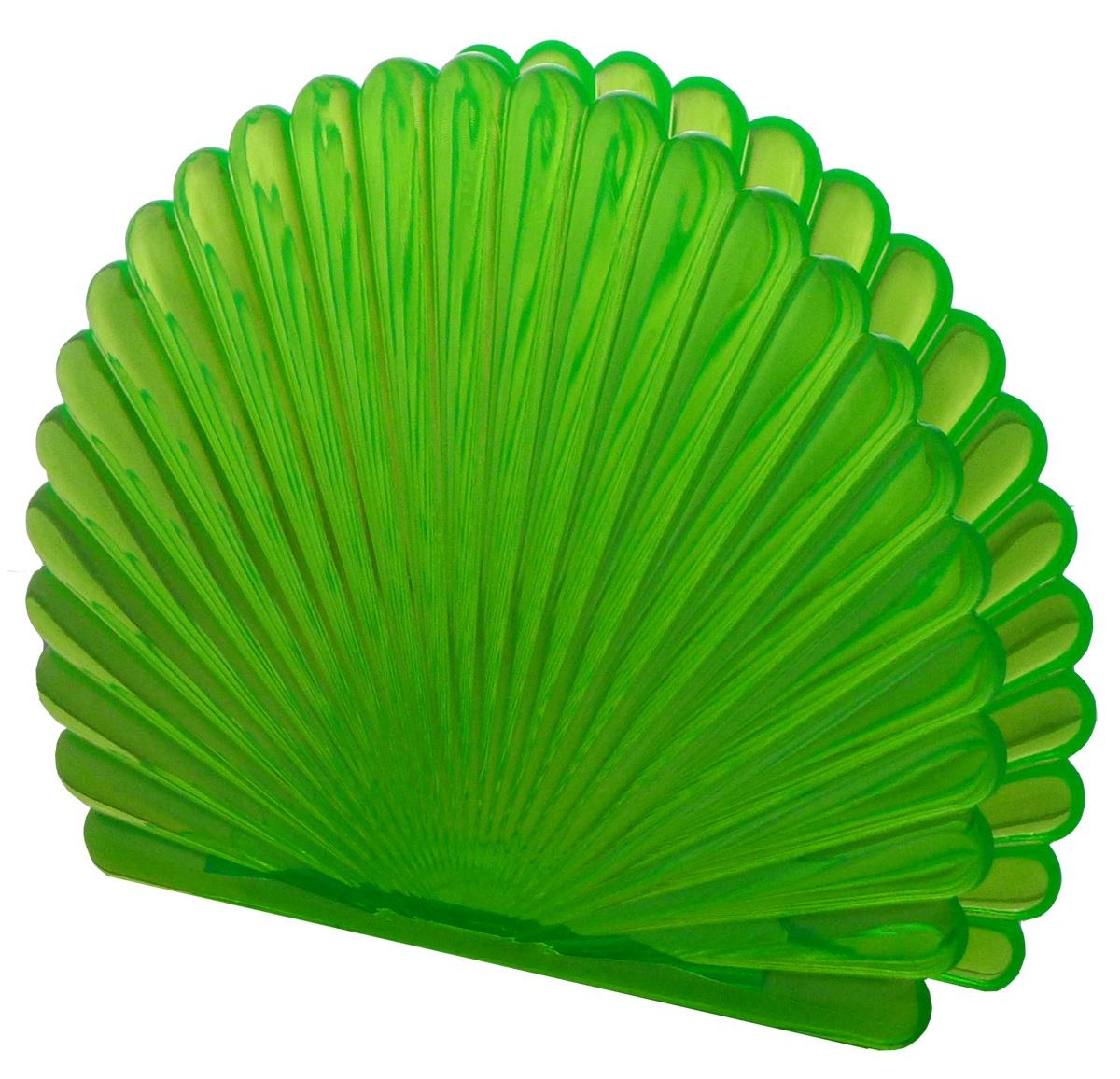 Салфетница ТАНДЕМ-ПЛАСТ Веер, салатовыйТ020сЭлегантная салфетница в форме веера (длина 13 см, высота 10 см, толщина 2 см). Изготовлена в России из прозрачного пищевого пластика (имитация цветного стекла). Легко моется, в том числе в посудомойке, не имеет запаха и создает приятную сервировку стола.