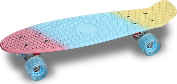 Круизер Indigo, розовый, синий, желтый00-00000117Круизер Indigo предназначен для катания по дорожкам в парке или по городу. Круизные лонгборды универсальные и маневренные. Они позволяют просто ездить, съезжать с горок и даже выполнять некоторые трюки. Круизер Indigo обладает широким набором функциональных возможностей и хорошим балансом для новичков: дека выполнена из высококачественного полипропилена, большие мягкие колеса повышенной упругости делают катание комфортным.Круизер имеет широкие и мягкие колеса, что безусловно влияет на сцепление с дорогой.