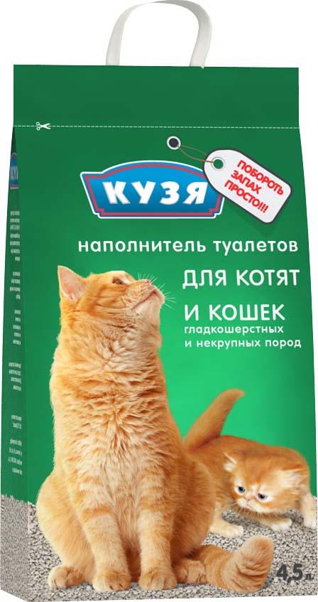 Наполнитель для кошачьего туалета Кузя, 812, цеолитовый, 4,5 л