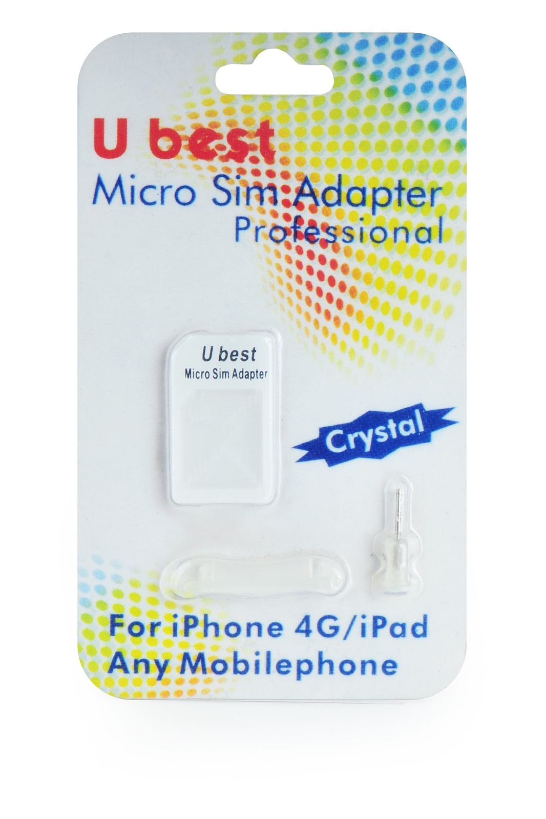 Адаптер-переходник Ubest переходник с microSIM на SIM в блистере 110010, белый переходник 12 в на 220 в