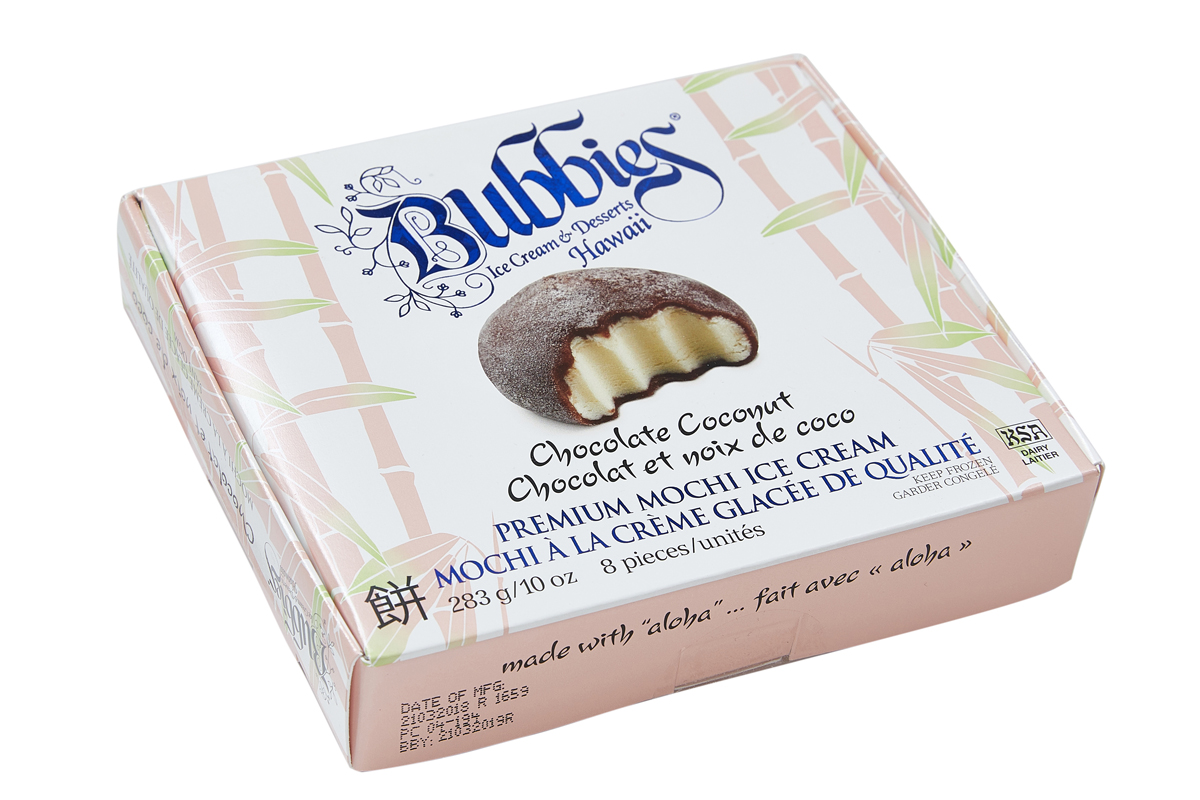 Мороженое Bubbies Моджи Кокос-Шоколад, 283 г попкорн holy corn кокос шоколад 50 г 20 шт кокос бельгийский шоколад шоколад 50