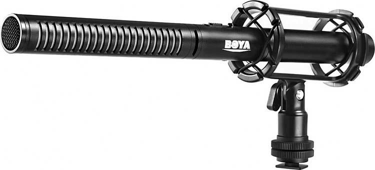 Микрофон-пушка конденсаторный Boya BY-PVM1000 профессиональный, 25 Гц - 20 кГц, 80дБ цены