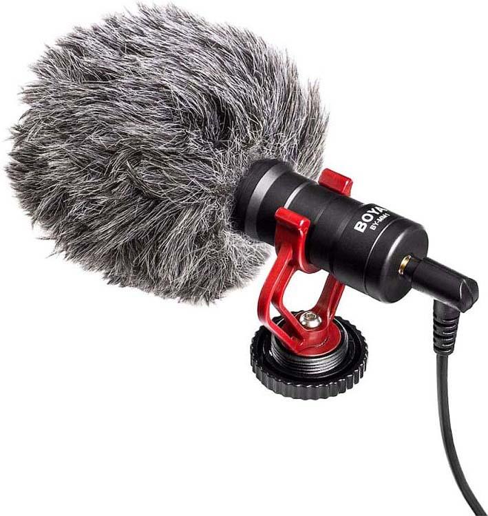 Микрофон кардиоидный Boya BY-MM1 универсальный, 35 Гц - 18 кГц микрофон boya by mm1