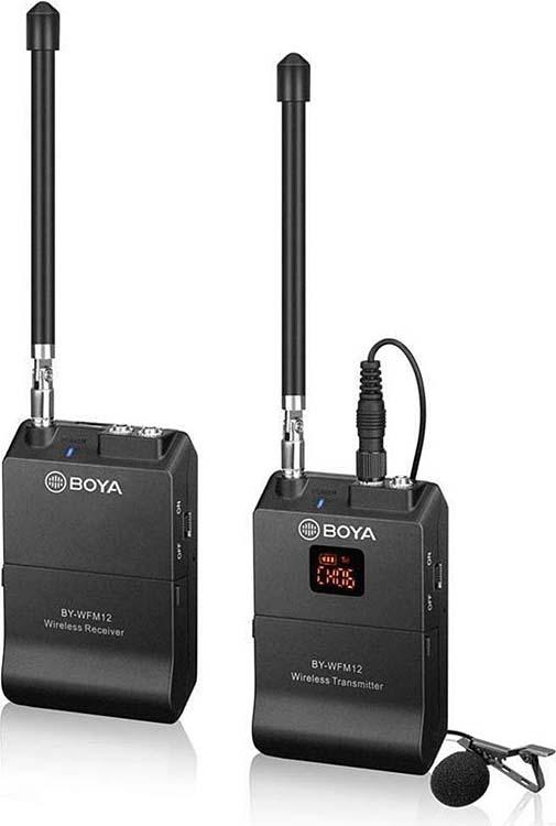 12-канальная микрофонная система Boya BY-WFM12 беспроводная, 204-215 МГц, DQPSK, 12 каналов, 40 м