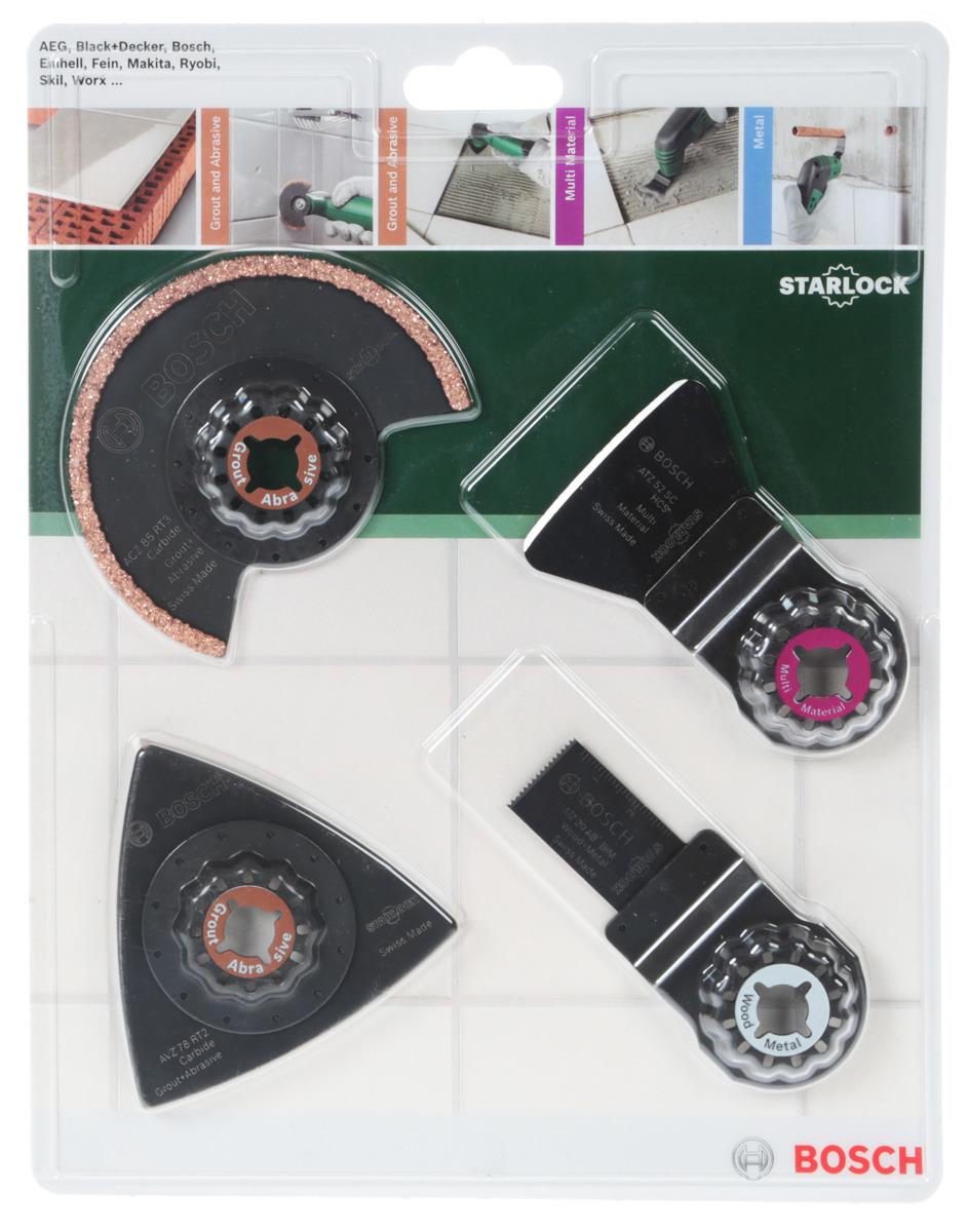 Набор оснастки Bosch по плитке для PMF, 4 шт многофункциональный инструмент bosch pmf 1800 e