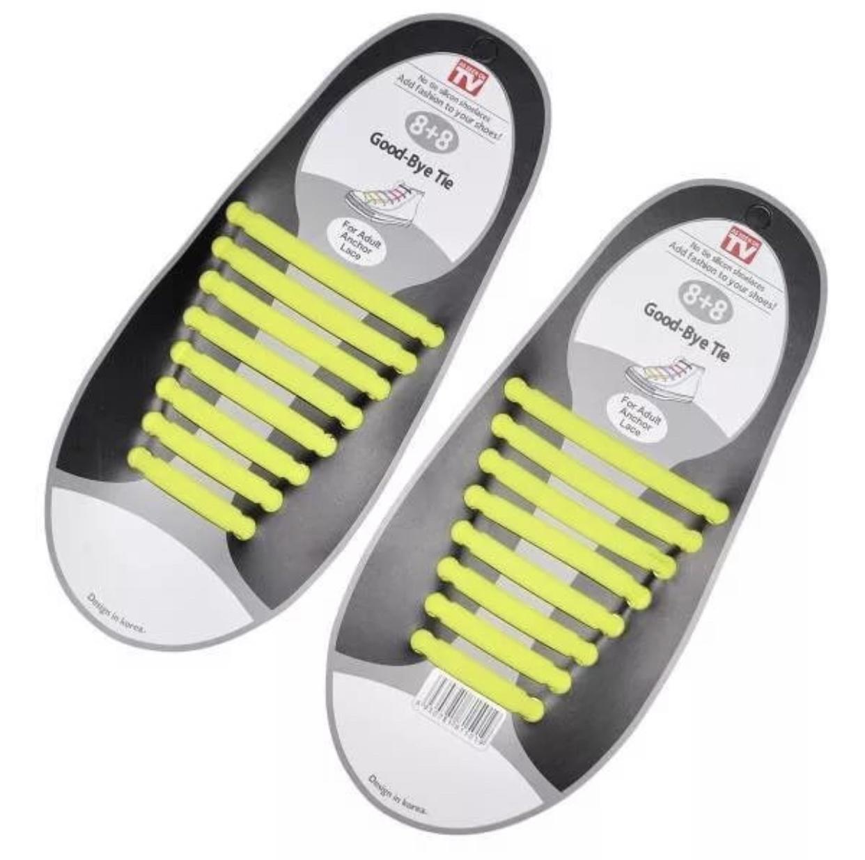 Шнурки Markclub силиконовые для обуви, SHN-1902, желтый