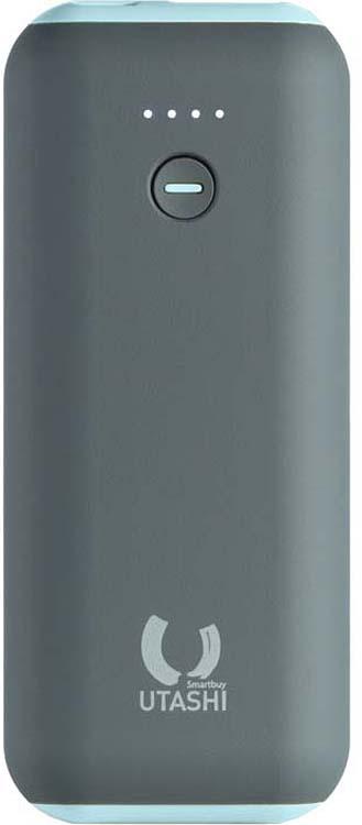Внешний аккумулятор SmartBuy Utashi A 5000, SBPB-725, серый, голубой внешний аккумулятор smartbuy utashi x 5000 sbpb 505 черный