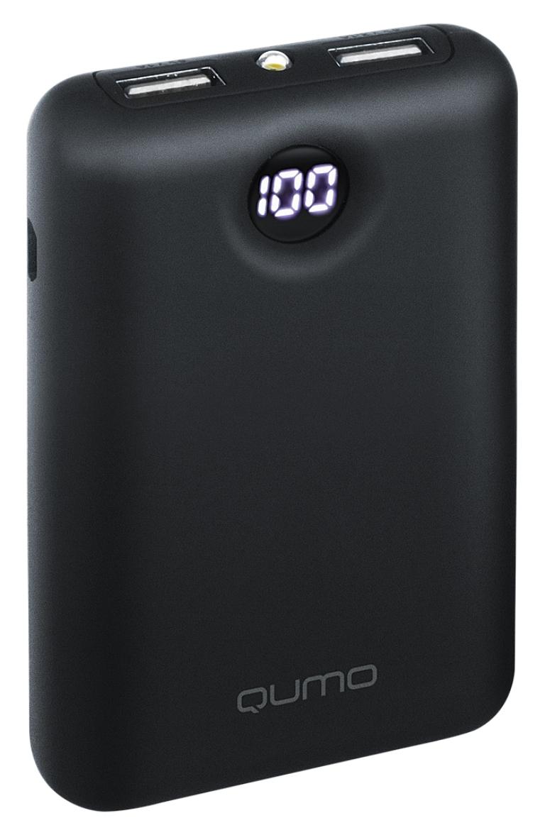Внешний аккумулятор Qumo PowerAid 7800 (V2), 7800 mAh, 24264, черный цена