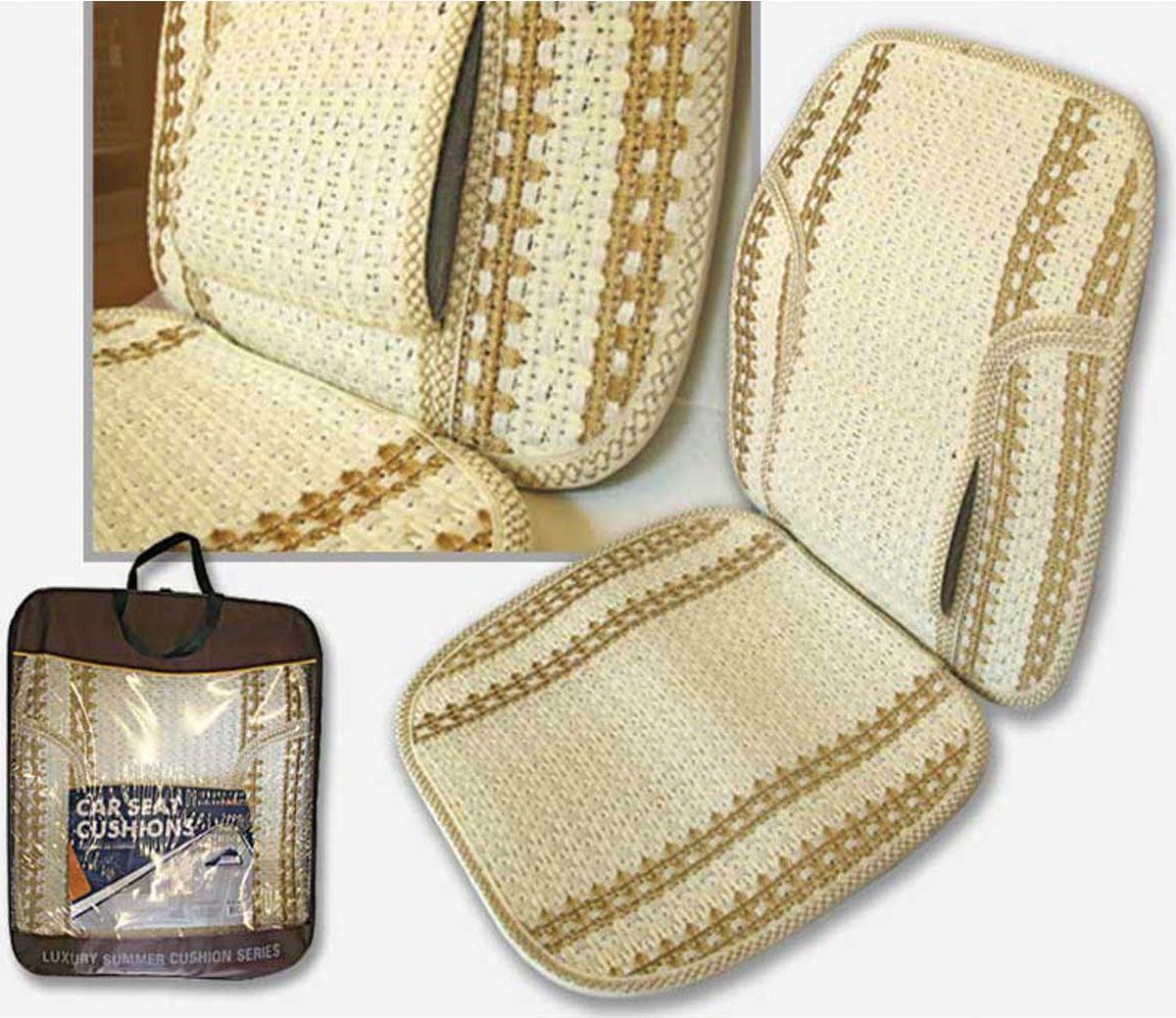Накидка на сиденье Nova Bright плетеная, бежевый, 5 шт