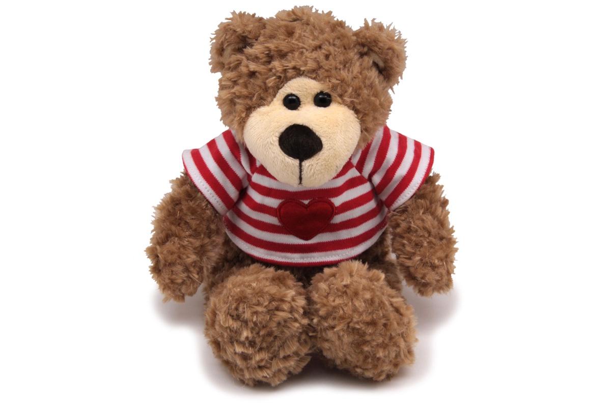 Мягкая игрушка Magic bear toys Медведь, 101025A/7.5-B коричневый, красный, белый