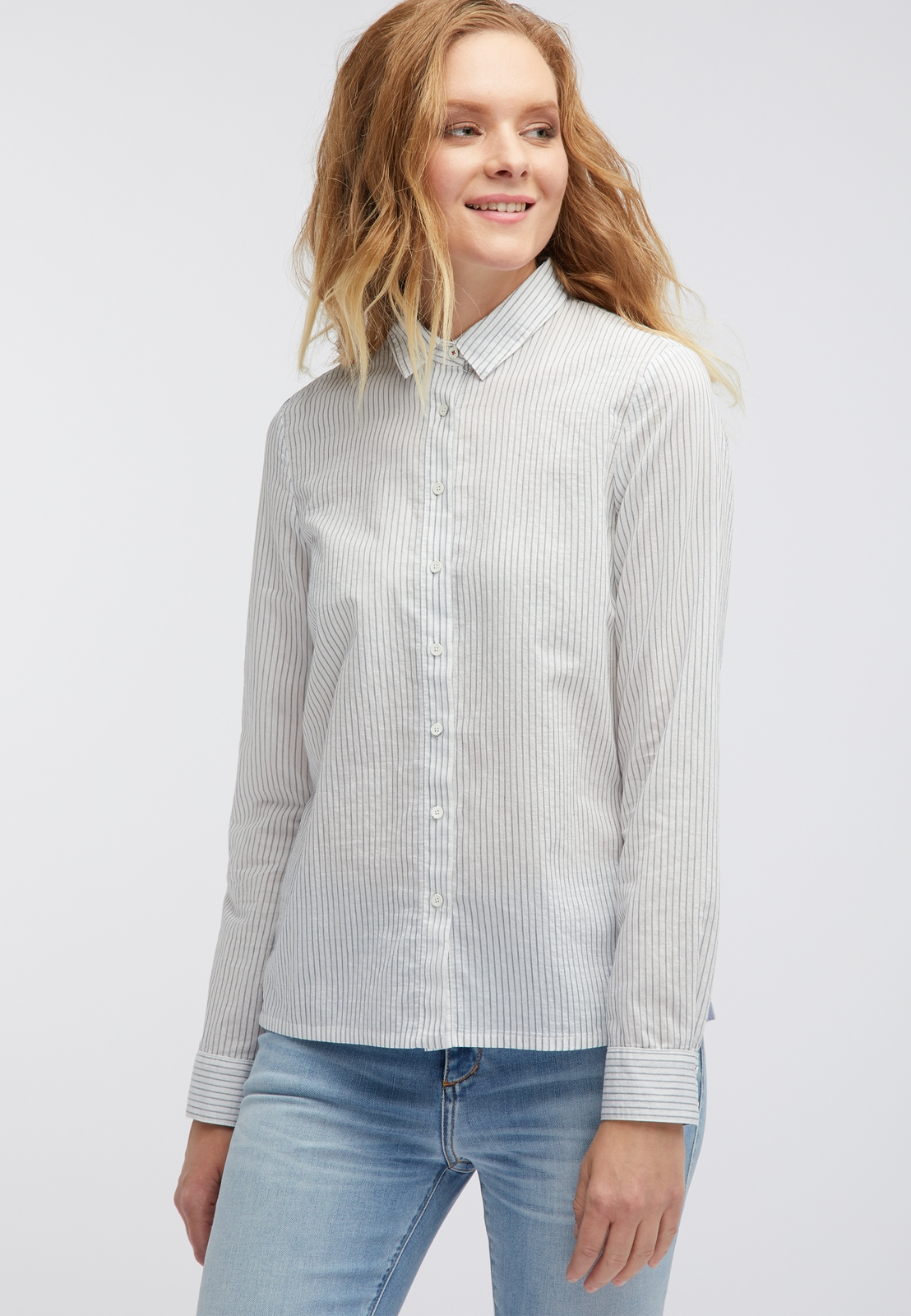 Блузка MUSTANG Striped Blouse striped wrap blouse