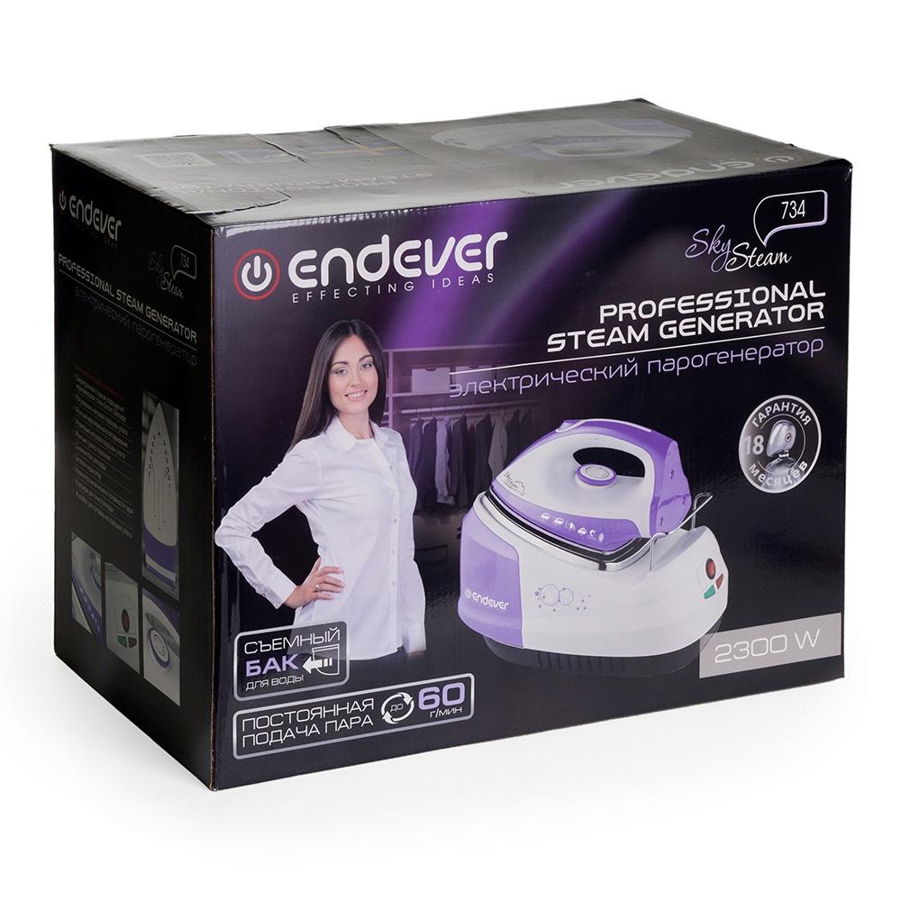 Парогенератор Endever SkySteam-734, фиолетовый, белый Endever