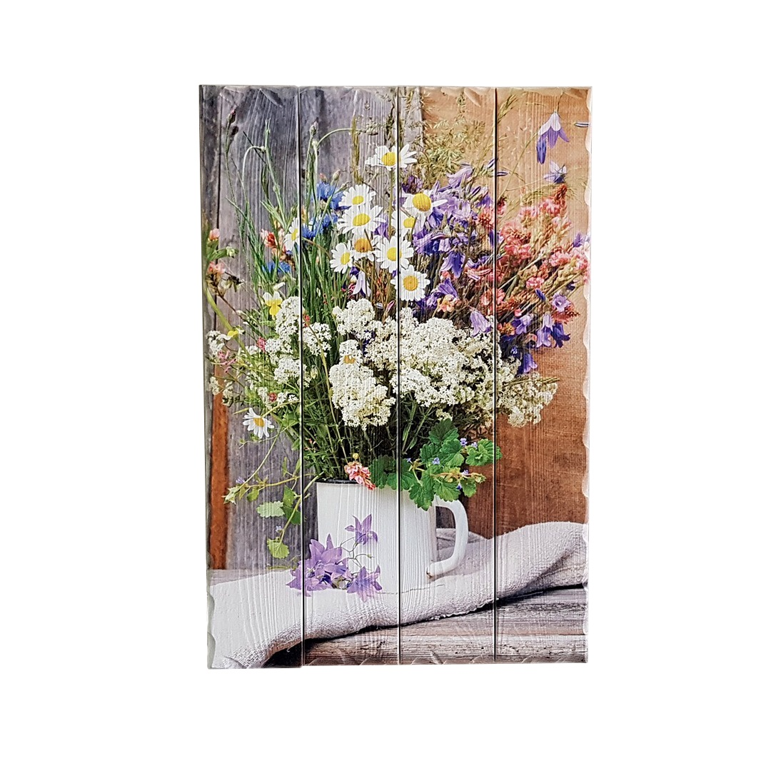 Картина PapaKarlov Картина Полевые цветы 60х40 см, K404P, Дерево картина даная