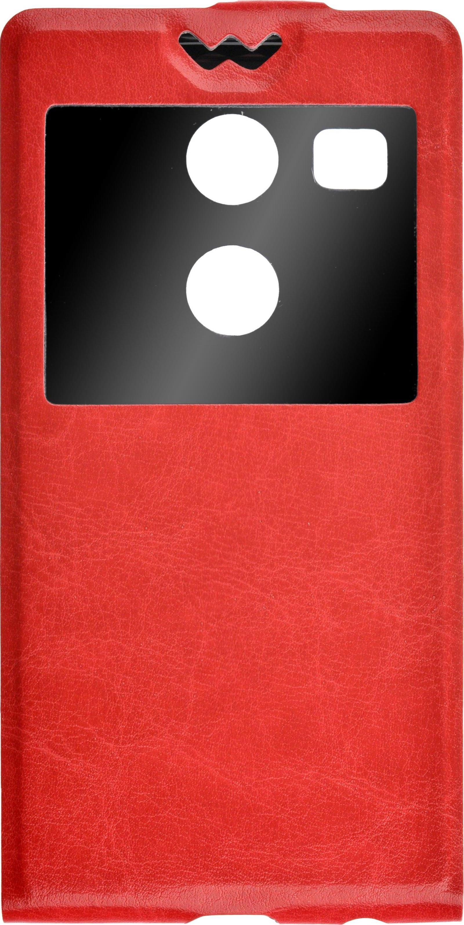 Чехол для сотового телефона skinBOX Flip slim, 4630042525221, красный стоимость