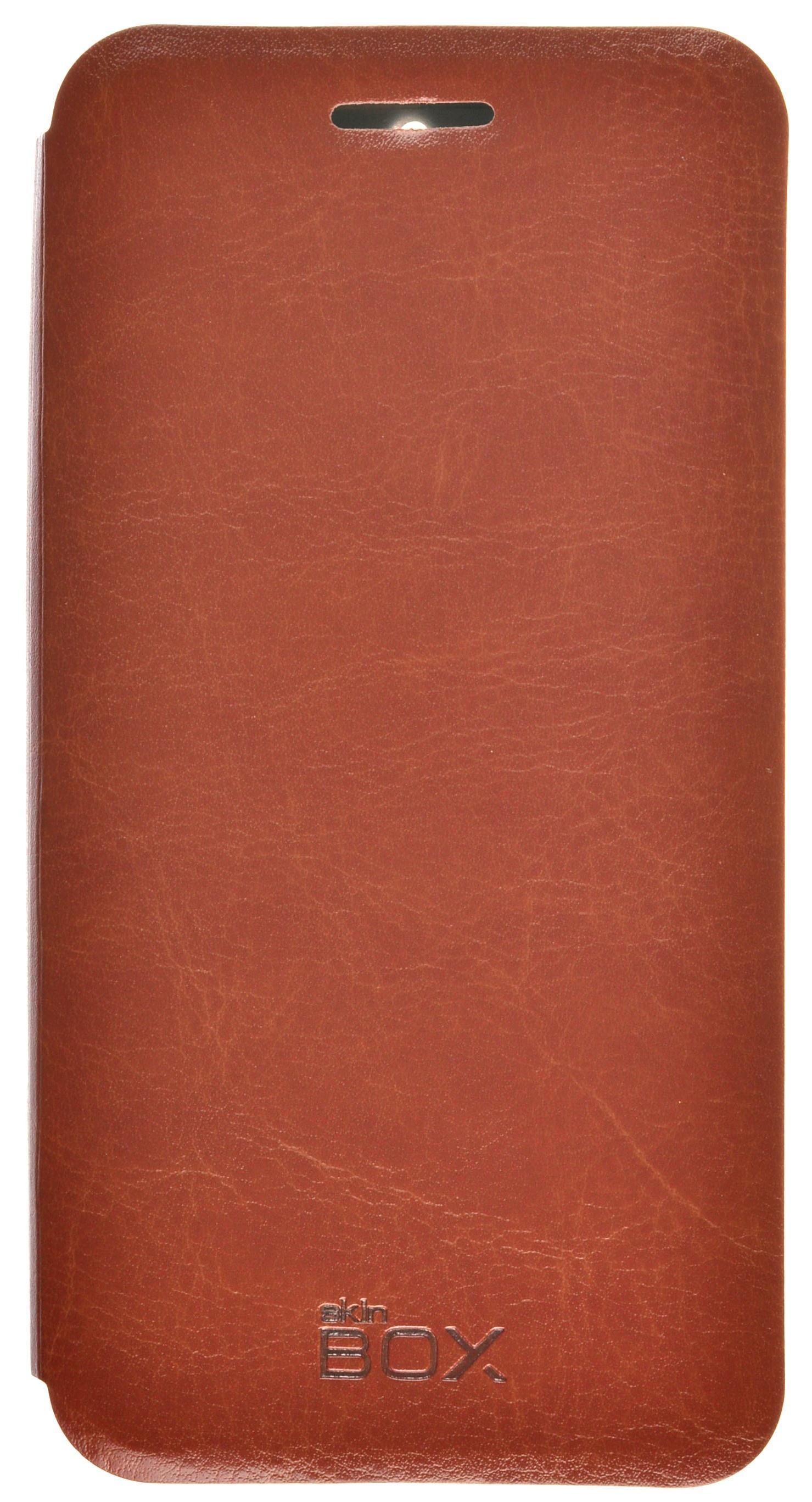 Чехол для сотового телефона skinBOX Lux, 4630042525382, коричневый
