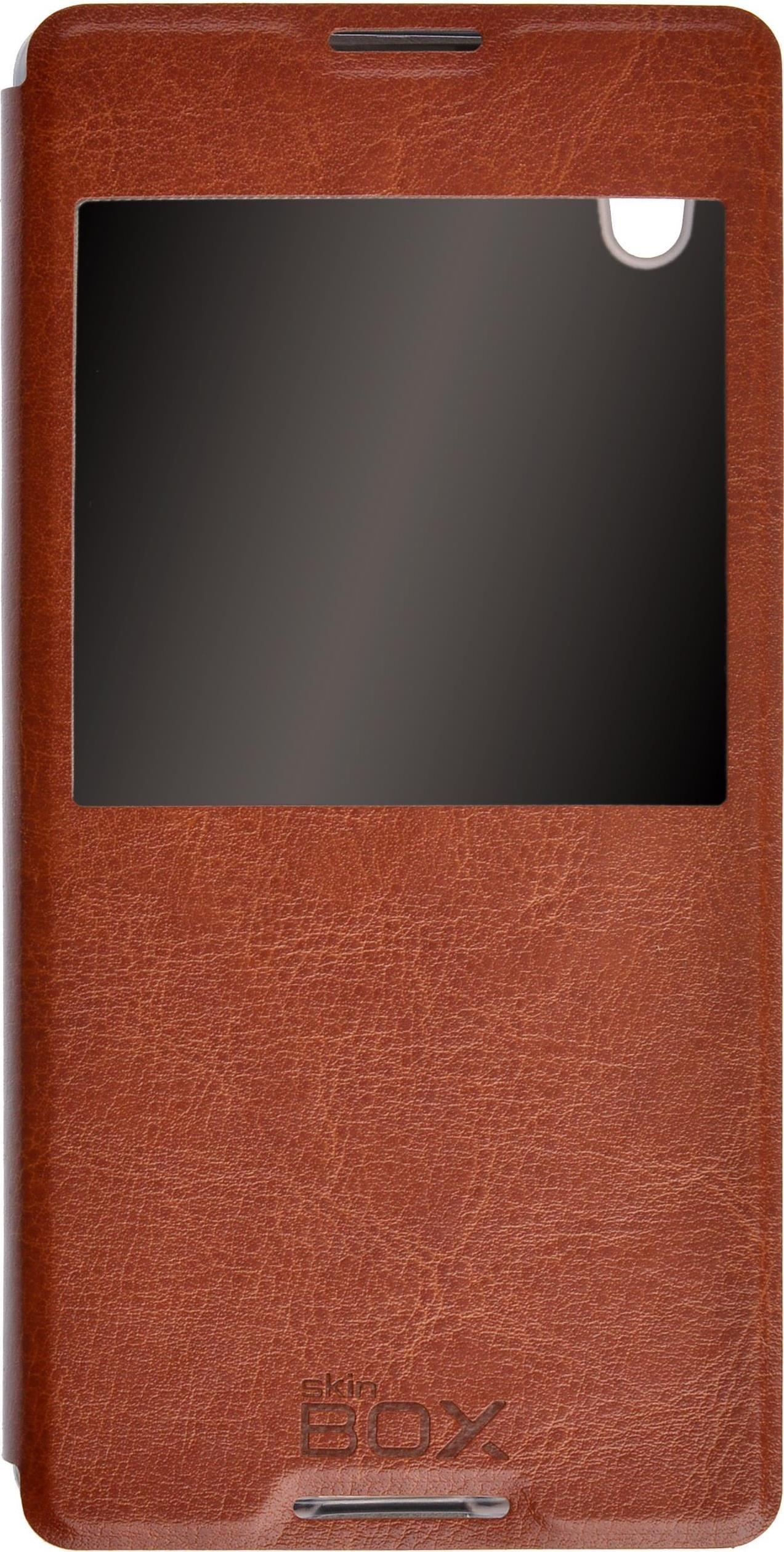 цена на Чехол для сотового телефона skinBOX Lux AW, 4630042525511, коричневый