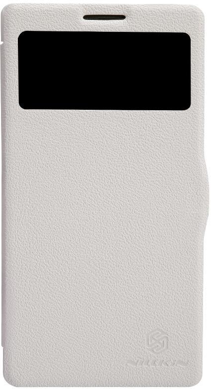 Чехол для сотового телефона Nillkin Fresh, 4630042525627, белый чехол для смартфона lenovo a516 nillkin fresh series leather case черный