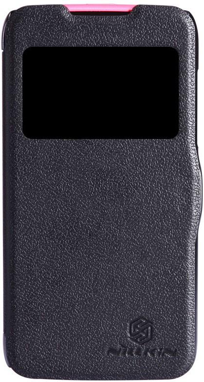 Чехол для сотового телефона Nillkin Fresh, 4630042525634, черный чехол для смартфона lenovo a516 nillkin fresh series leather case черный