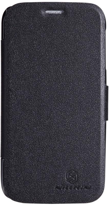 Чехол для сотового телефона Nillkin Fresh, 4630042525894, черный чехол для смартфона lenovo a516 nillkin fresh series leather case черный