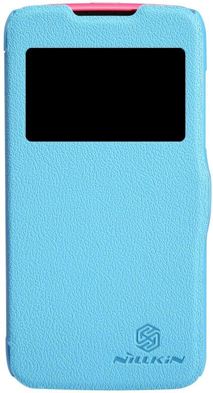 Чехол для сотового телефона Nillkin Fresh, 4630042525900, синий чехол для смартфона lenovo a516 nillkin fresh series leather case черный