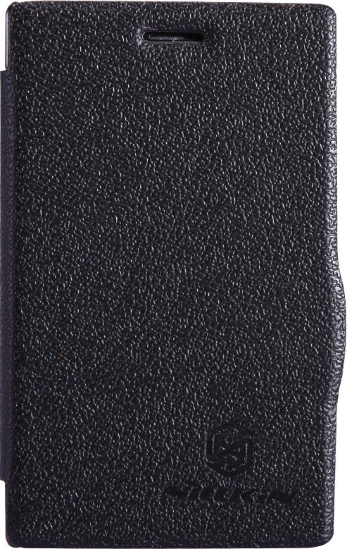 Чехол для сотового телефона Nillkin Fresh, 4630042525924, черный чехол для смартфона lenovo a516 nillkin fresh series leather case черный