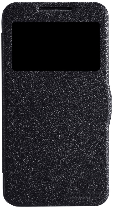 Чехол для сотового телефона Nillkin Fresh, 4630042526075, черный чехол для смартфона lenovo a516 nillkin fresh series leather case черный