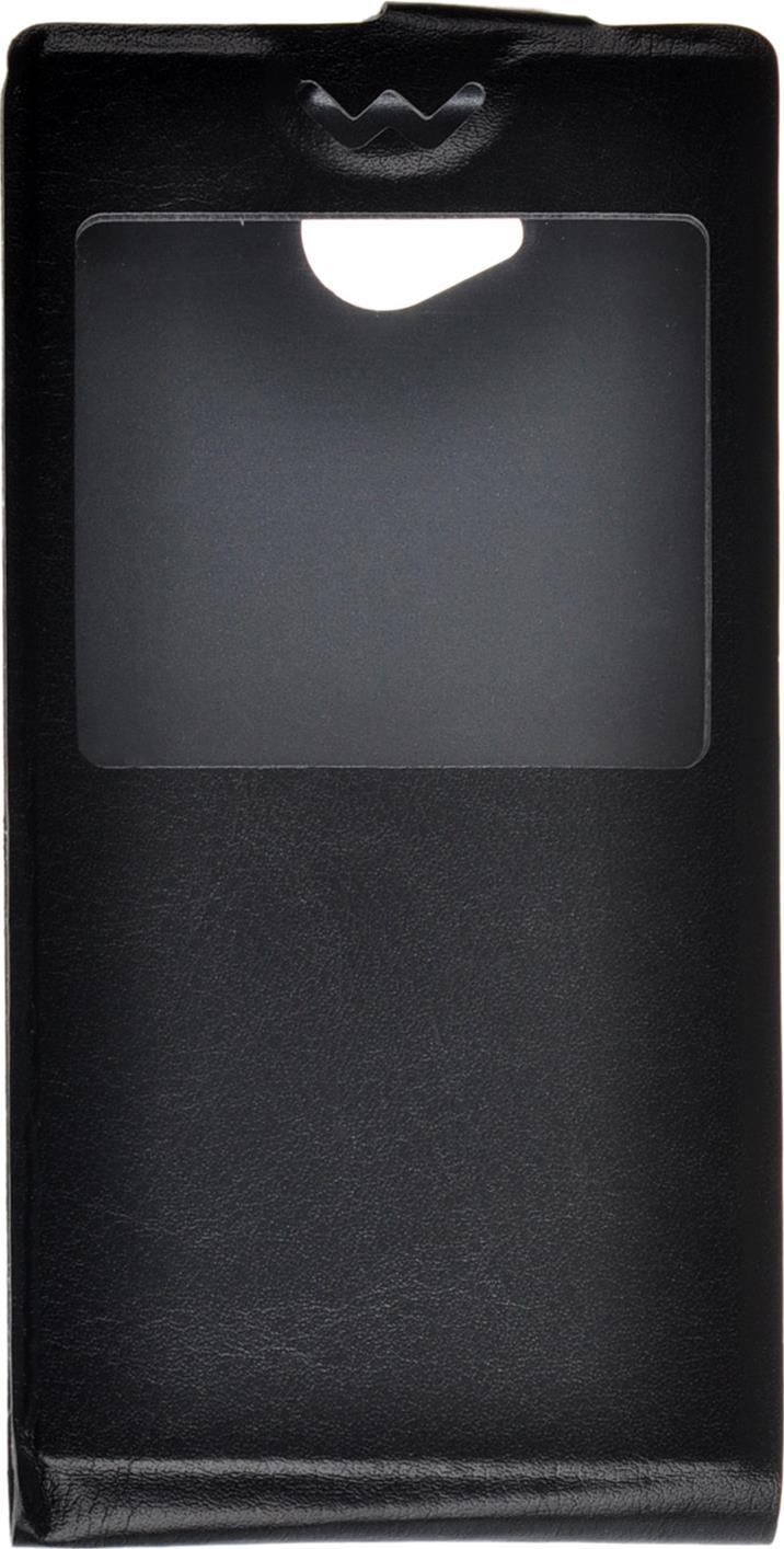 Чехол для сотового телефона skinBOX Flip slim AW, 4630042527393, черный skinbox flip slim чехол для alcatel 4024d pixi black