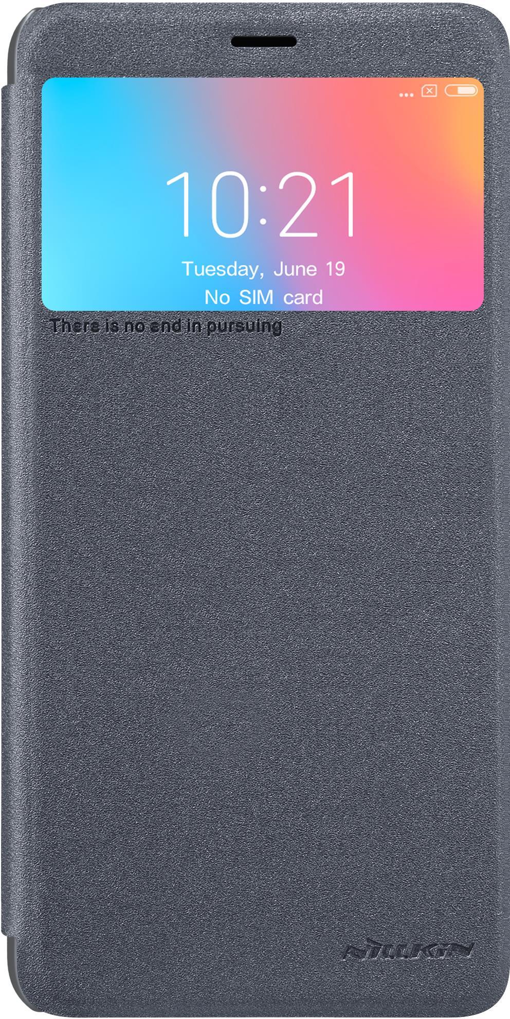 Чехол для сотового телефона Nillkin Sparkle, 6902048161092, черный чехол для xiaomi redmi 6a caseguru magnetic case синий