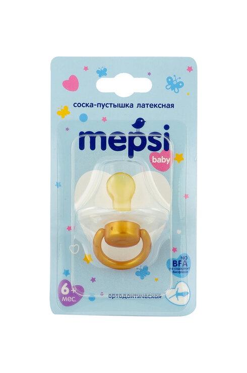 Пустышка Mepsi латексная, ортодонтическая, 6+, 0311 белый