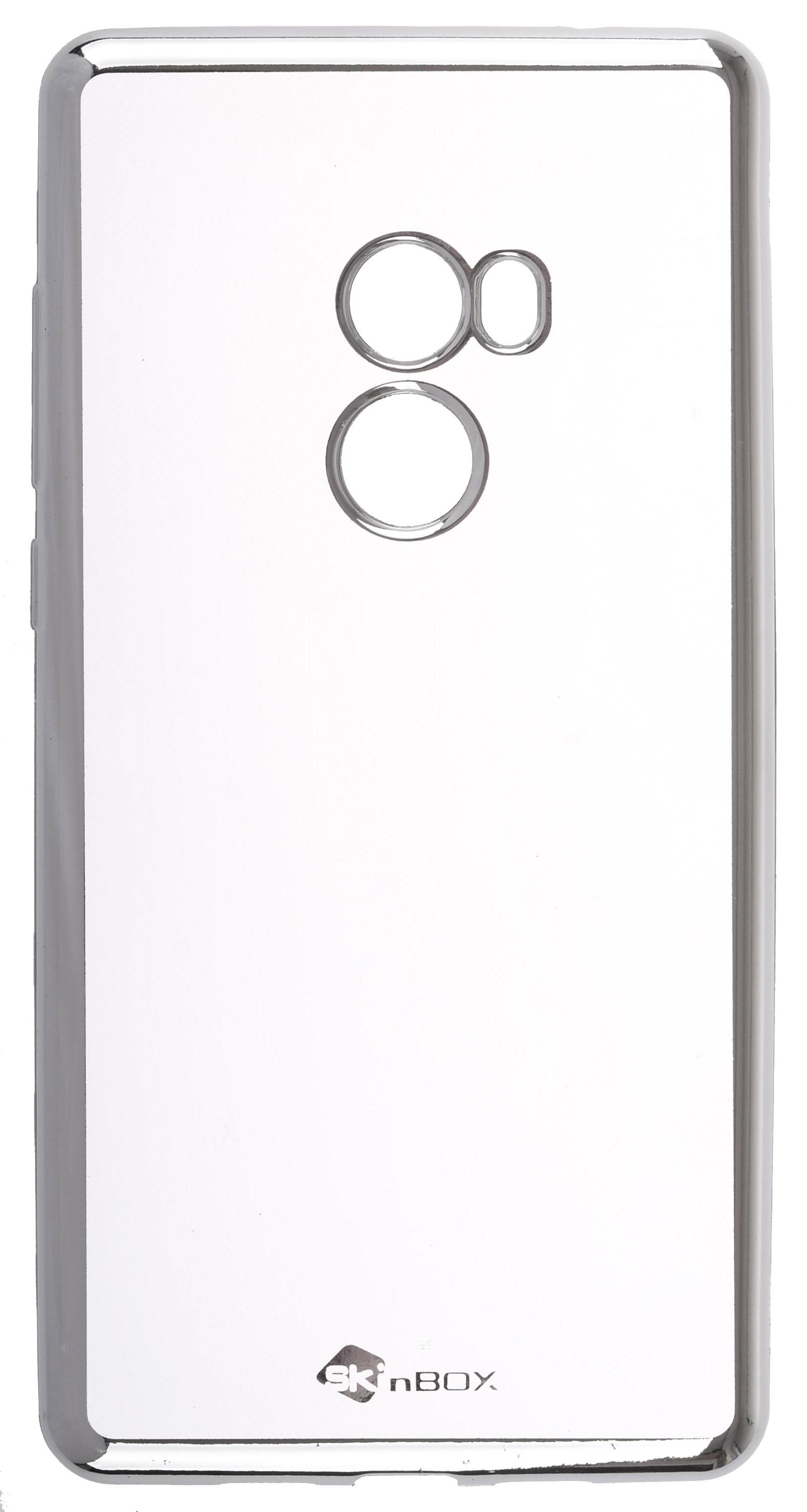 Чехол для сотового телефона skinBOX Silicone chrome border, 4630042524408, серебристый чехол для сотового телефона skinbox silicone chrome border 4630042524514 серебристый